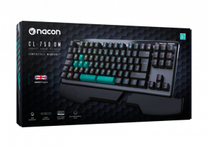 Tipkovnica NACON CL 7500MUK mehanska osvetljena črna 1