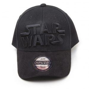difuzed star wars black on black logo curved bill box 44394