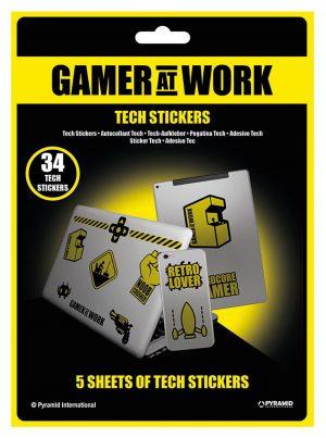 gamer at work tech nalepke pyramid box 42808