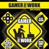 gamer at work vinyl nalepke pyramid box 42809
