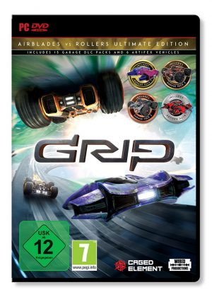 grip combat racing rollers vs airblades ultimate edition pc box 41907