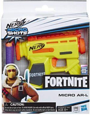 nerf fortnite mikroshots blaster micro ar l box 44343