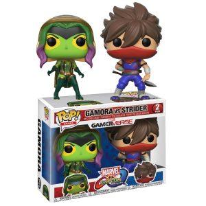pop figura 2 pack capcom vs marvel gamora vs strider box 42175