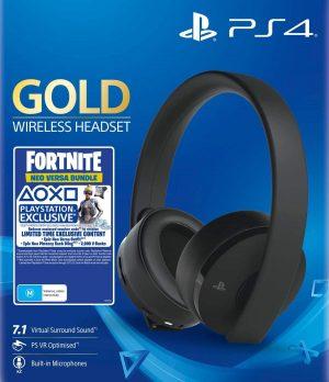 ps4 sony wireless stereo headphones gold fortnite box 44521