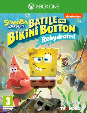spongebob squarepants battle for bikini bottom rehydrated xbox one box 44660