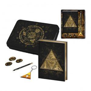 zelda tri force pisalni set pyramid box 42840